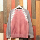 "JAVARA ""RAGLAN DYE"" sweat (GRAY&DEEP RED)"