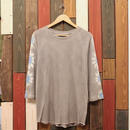 "JAVARA Raglan Sleeve 7tee ""FLOWER DYE"" (light gray)"