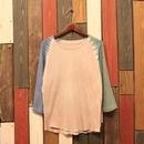 "JAVARA Raglan Sleeve 7tee ""RAGLAN DYE"" (light brown)"