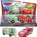 ディズニー・ピクサー カーズ2  2010 マテル キャラクターカー 2パック Race Team Fillmore & Lightning McQueen with Travel Wheels