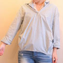 フロントギャザーストライプシャツ