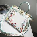 【ご予約番号:2017B2】カラフルフラワーホワイトバッグ
