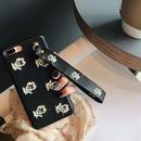 【オーダー商品】エンボスフラワー刺繍ケース i phone7,7plus,6,6s,6plus,6splus
