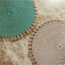 PLACEMAT rattan with cowrieshells