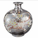 即納❣️予約販売小鳥さん柄シルバー花瓶②