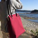キャリアウーマンのための💕A4ファイル対応❤縦型 がま口帆布トートバッグ