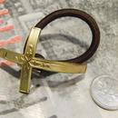 真鍮  クロス (2) ループコンチョ ヘアゴム付き