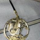 真鍮製 大き目帆船型 根付ストラップ 着物の帯飾りに