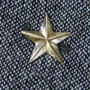 真鍮製 スター星型ミニピンズブローチ ジャケットやハットの飾りに