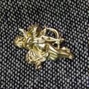 真鍮ブラス製 エンジェル(天使)型ピンズブローチ ジャケットやハットの飾りとして