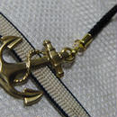 真鍮製 碇型根付ストラップ 着物の帯飾りに