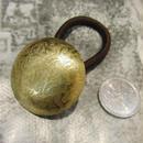真鍮 丸型 ループコンチョ ヘアゴム付き