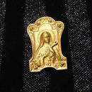 真鍮 聖母マリア ハットやバッグにピンズブローチ