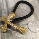 真鍮  クロス (1) ループコンチョ ヘアゴム付き