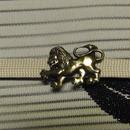 真鍮製 ライオン型帯留め 着物や浴衣の帯どめ飾りに