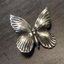 真鍮製 バタフライ・蝶型 ハットやバッグにピンズブローチ