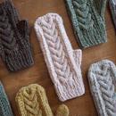 ケーブルとレースの手袋 / Herkkä[ヘルッカ]/ パウダーピンク
