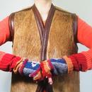 Vintage Horsehair leather vest  Maybe American