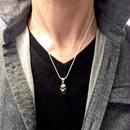 [SKURANGER-pendant]ヒューマンスカル顎付きペンダント(チェーン付き)