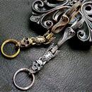 [Atelier Shima-key]Cobra Fook With Skull Key Chain-SV