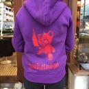 『蛇骨堂オリジナル』くまたんパーカー紫(完売です)