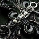 [Atelier Shima-key]Skull Clip With Skull Key Chain-SV