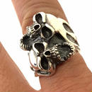 [Atelier Shima-ring]Two Crying Skull Ring
