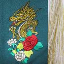 龍と薔薇・金×白房・長さ105cm