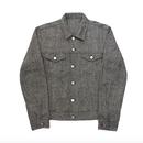 Herrinbone Trucker Jacket – Charcoal