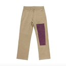 Simple Patchwork Pants – Baige&Purple