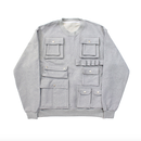 Pocket Detail Sweatshirts – Grey