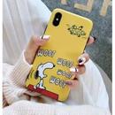 輸入雑貨 スヌーピー ケータイケース Snoopy ケータイカバー  iphone Xs ケース 最大種類 iphone 8 7 6 6 s-plus 1イエロー