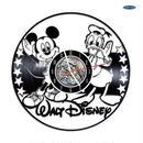 輸入雑貨 ディズニー ミッキー 仲間たち 30cm レコード盤 壁掛け時計 アニメ 映画 人気  インテリア ディスプレイ 3種類展開 2