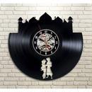 輸入雑貨 アラジン アート 30cm レコード盤 壁掛け時計 アニメ 映画 人気  インテリア ディスプレイ