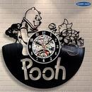輸入雑貨 プーさん ピグレット 30cm レコード盤 壁掛け時計 アニメ 映画 人気  インテリア ディスプレイ 2種類展開 1