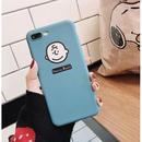 輸入雑貨 スヌーピー ケータイケース snoopy ケータイカバー  iphone XR ケース 最大種類 iphone 8 7 6 6 s-plus チャーリー ブルー
