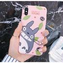 輸入雑貨 トトロ ケータイケース totoro ケータイカバー  iphone XR ケース 最大種類 iphone 8 7 6 6 s-plus トトロリーフピンク
