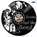 輸入雑貨 美女と野獣 30cm レコード盤 壁掛け時計 アニメ 映画 人気  インテリア ディスプレイ 5種類展開 9