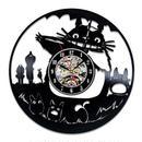 輸入雑貨 トトロ 30cm レコード盤 壁掛け時計 アニメ 映画 人気  インテリア ディスプレイ 3