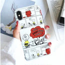輸入雑貨 スヌーピー ケータイケース snoopy ケータイカバー  iphone X 最大種類 iphone 8 7 6 6 s-plus  マガジンホワイト