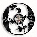 輸入雑貨 アリス ワンダーランド 30cm レコード盤 壁掛け時計 アニメ 映画 人気  インテリア ディスプレイ