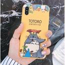 輸入雑貨 トトロ ケータイケース totoro ケータイカバー  iphone XR ケース 最大種類 iphone 8 7 6 6 s-plus トトロアンブレライエロー