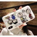 輸入雑貨 スヌーピー ケータイケース snoopy  iphone XR XsMAX 最大種類 iphone 8 7 6 6 s-plus ピーナッツフレンズ シェル3