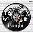 輸入雑貨 バンビ ちゃん 30cm レコード盤 壁掛け時計 アニメ 映画 人気  インテリア ディスプレイ 2種類展開 2