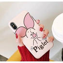 輸入雑貨 ディズニー プーさん ケータイカバー  iphone XR XsMAX 最大種類 iphone 8 7 6 6 s  フレンズ ピグレット