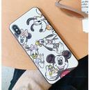 輸入雑貨 ミッキー ミニー ディズニー ケータイカバー  iphone XR XsMAX 最大種類 iphone 8 7 6 6 s-plus シルクパターン2