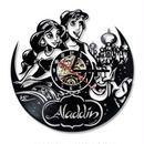 輸入雑貨 アラジン 30cm レコード盤 壁掛け時計 アニメ 映画 人気  インテリア ディスプレイ 2種類展開 1