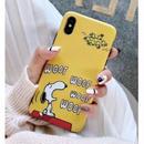 輸入雑貨 スヌーピー ケータイケース snoopy ケータイカバー  iphone XR XsMAX 最大種類 iphone 8 7 6 6 s-plus ハッピーラグジュアリーイエロー