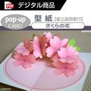 【型紙】さくらの花(ポップアップカード)[PDF]