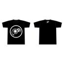 廻転楕円体Tシャツ(ブラック・反転)